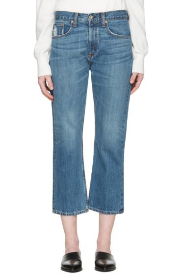 Rag & Bone - Blue Marilyn Crop Jeans
