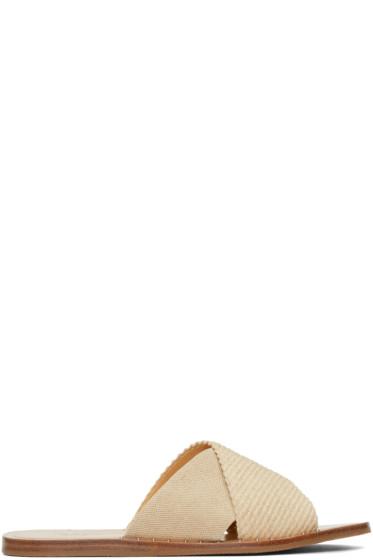 Rag & Bone - Beige Keaton Slide Sandals