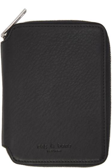 Rag & Bone - Black Small Zip Around Wallet