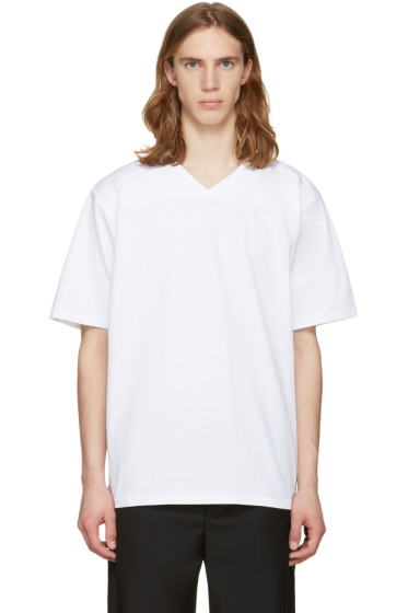 Rag & Bone - White Football T-Shirt