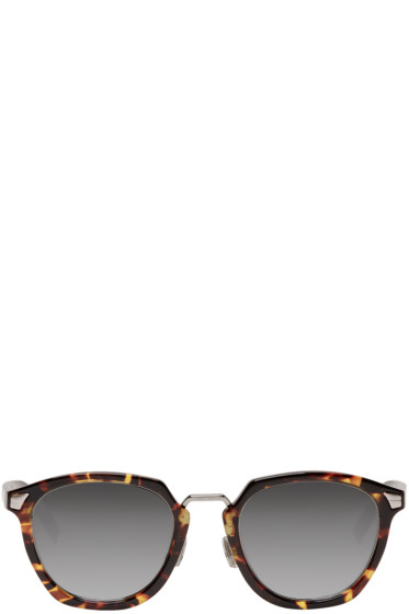 Dior Homme - Brown Tortoiseshell 'Dior Tailoring 1' Sunglasses
