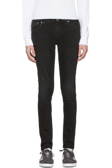 Nudie Jeans - Black Skinny Lin Jeans