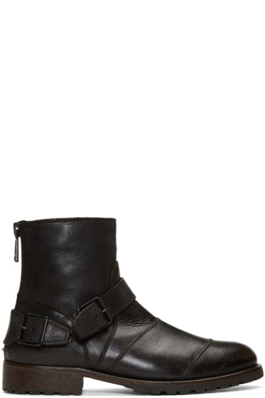 Belstaff - Black Trailmaster Boots