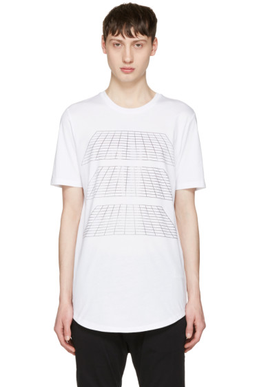 Diesel Black Gold - White Geometric T-Shirt