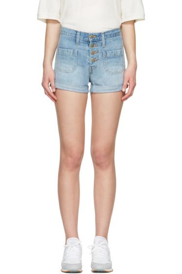 Levi's - Blue Denim Orange Tab Shorts