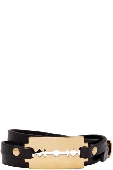 McQ Alexander McQueen - Black Razor Triple Wrap Bracelet