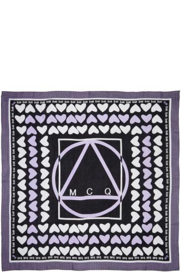 McQ Alexander McQueen - Purple Hearts Scarf