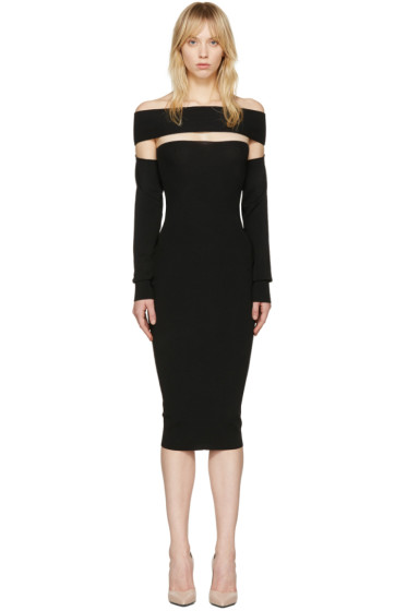 McQ Alexander McQueen - Black Bandeau Off-the-Shoulder Dress