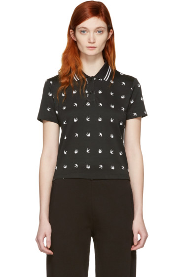 McQ Alexander McQueen - Black Cropped Swallow Polo
