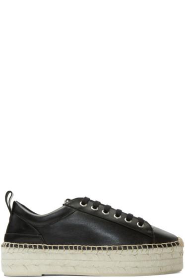 McQ Alexander McQueen - Black Sade Flatform Espadrilles