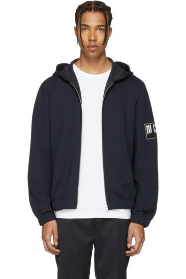 McQ Alexander McQueen - Navy Logo Hoodie