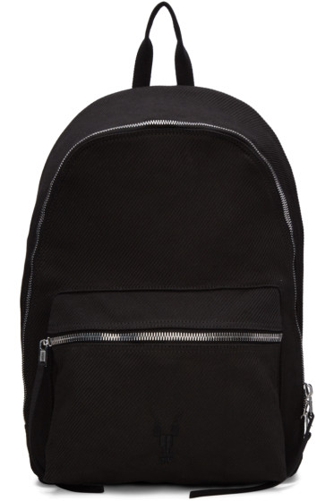Rick Owens Drkshdw - Black Twill Backpack