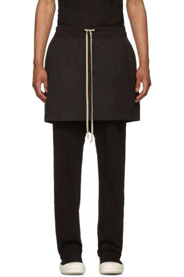 Rick Owens Drkshdw - Black Kilt Trousers