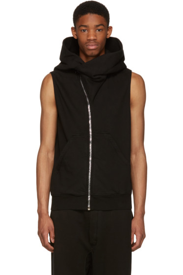 Rick Owens Drkshdw - Black Sleeveless Mountain Hoodie