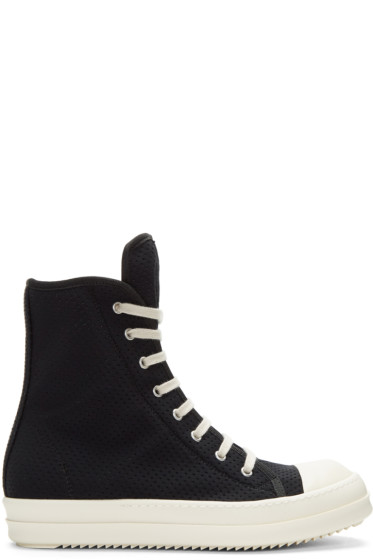 Rick Owens Drkshdw - Black Perforated High-Top Sneakers