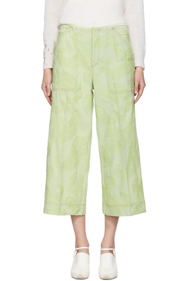 Acne Studios - Green Texel Paisley Trousers