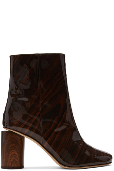 Acne Studios - Brown Patent Allis Boots