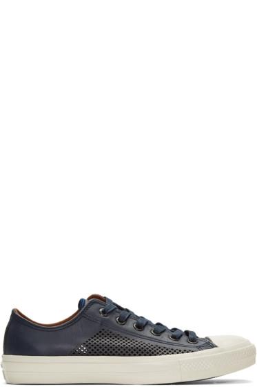 Converse by John Varvatos - Navy CTAS II Miro Perforated Sneakers