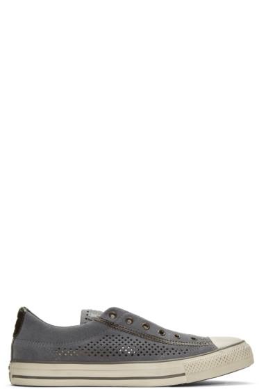 Converse by John Varvatos - Grey Suede CTAS Vintage Slip Sneakers