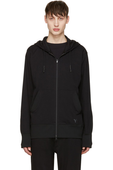 Y-3 - Black Future Craft Zip-Up Hoodie