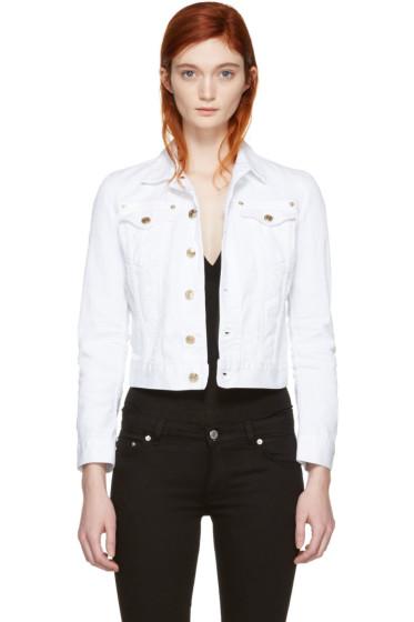 Dsquared2 - White Cropped Denim Jacket