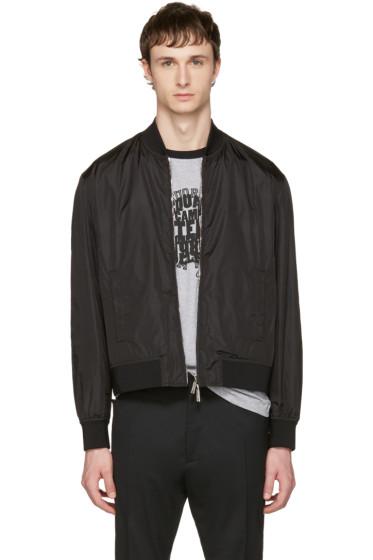 Dsquared2 - Black Nylon Bomber Jacket