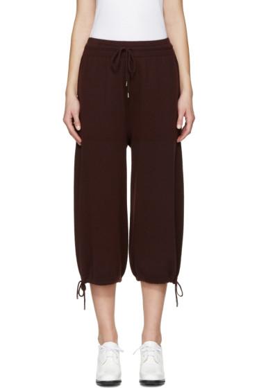 Helmut Lang - Burgundy Cashmere Lounge Pants