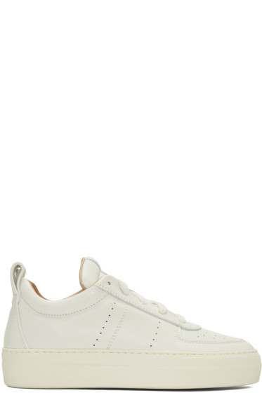 Helmut Lang - White Pad Low Sneakers