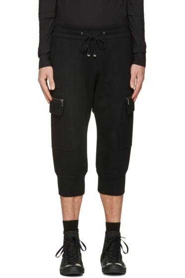 Helmut Lang - Black Cropped Cargo Pants