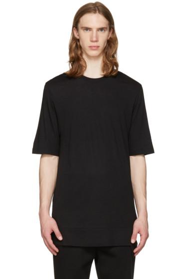 Helmut Lang - Black Cut Hem T-Shirt