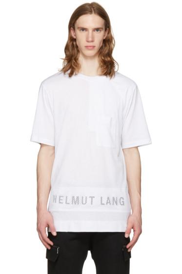Helmut Lang - White Mesh Combo Logo T-Shirt