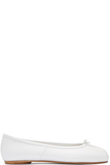 Maison Margiela - White Tabi Ballerina Flats