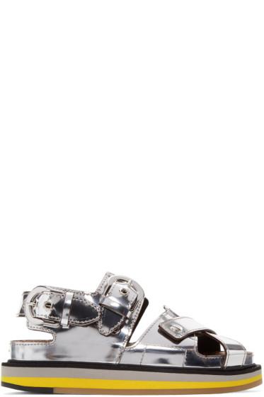 Maison Margiela - Silver Mirror Leather Sandals