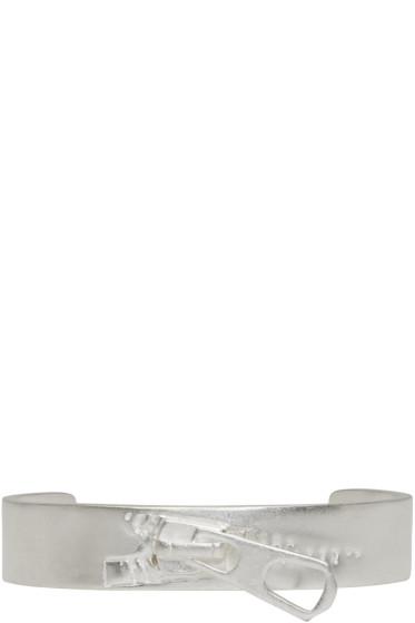 Maison Margiela - Silver Zip Cuff