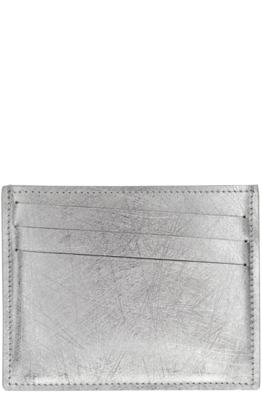 Maison Margiela - Silver Scratched Card Holder