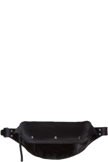 Maison Margiela - Black Suede & Canvas Bum Bag