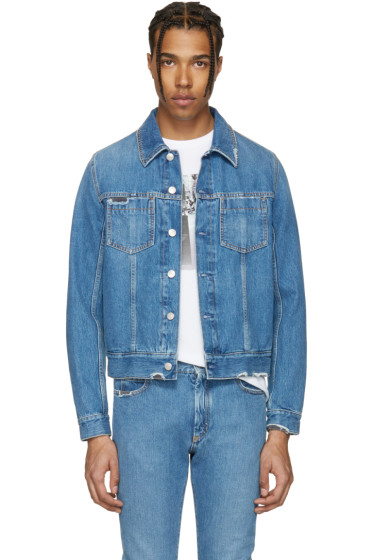 Maison Margiela - Indigo Denim Distressed Jacket