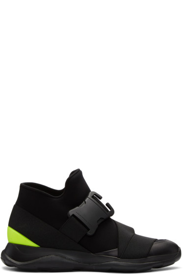 Christopher Kane - Black Spoiler High-Top Sneakers