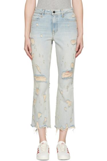 Alexander Wang - Indigo Scratch Grind Jeans