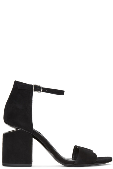 Alexander Wang - Black Suede Abby Sandals