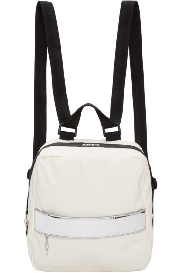 MM6 Maison Margiela - White Rubber Backpack