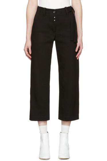 MM6 Maison Margiela - Black Workwear Drill Trousers
