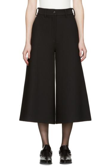 MM6 Maison Margiela - Black Wide-Leg Trousers