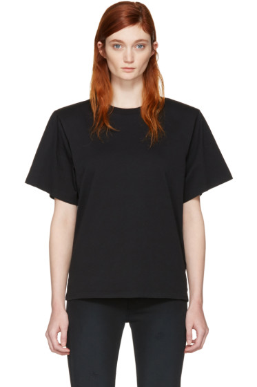 MM6 Maison Margiela - Black Shoulder Pad T-Shirt