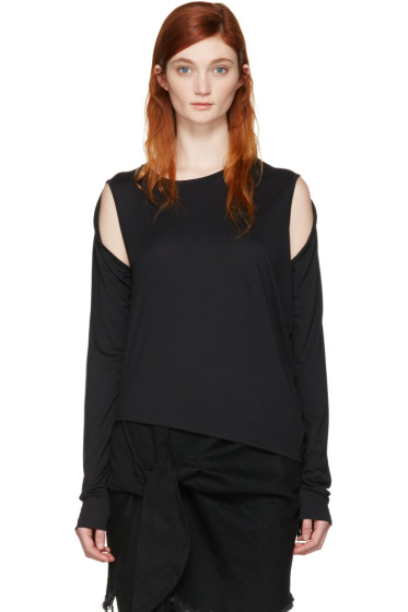 MM6 Maison Margiela - Black Convertible T-Shirt