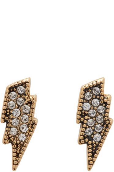 Marc Jacobs - Gold Lightning Coin Earrings
