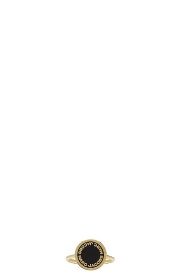Marc Jacobs - Gold Enamel Logo Disc Ring