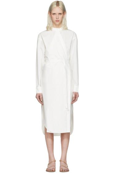 T by Alexander Wang - Ivory Waist Tie Shirt Dress