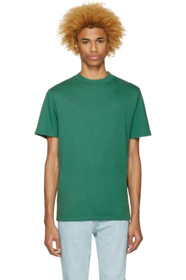 T by Alexander Wang - Green High Neck T-Shirt