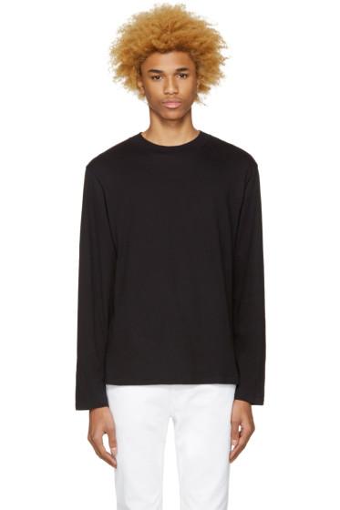 T by Alexander Wang - Black High Neck T-Shirt